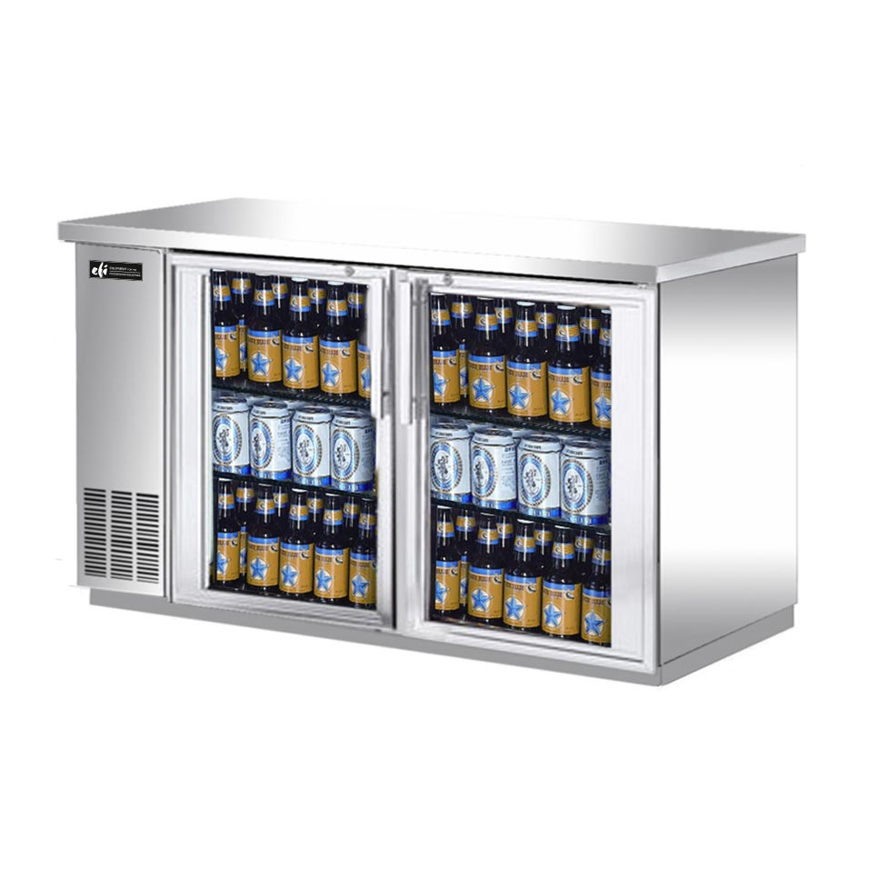 EFI - Glass Two-Section Back Bar Cabinet - CBBSGD2-60CC ...