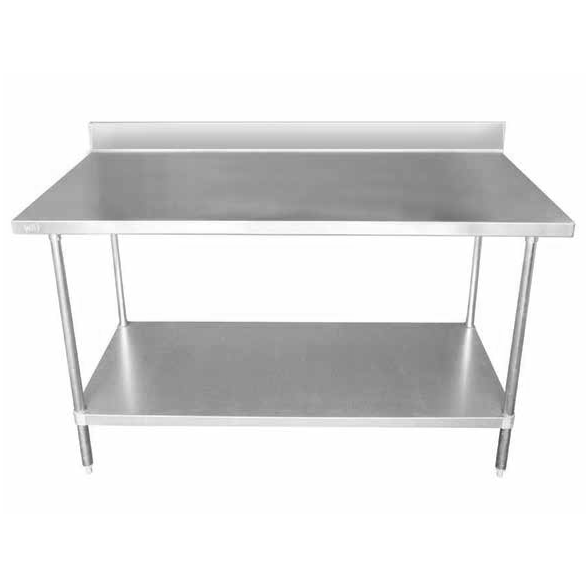 Work Tables With Backsplash
