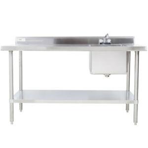 Work Tables with Sinks & Backsplash