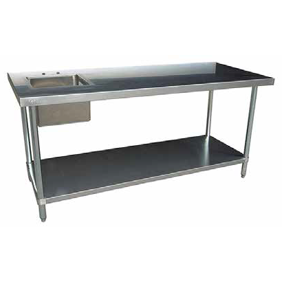 Work Tables With Prep Sinks