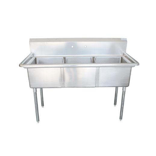 """EFI - 18"""" Triple Center Drain Prep Sink - SI818-3NC ..."""